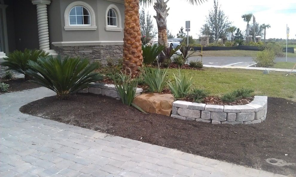 Aquaterra for a Contemporary Landscape with a Front Yard and Our Work by Aquaterra Landscape Contractors