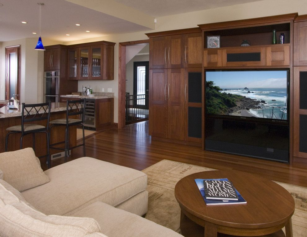 Aragon Entertainment Center for a Traditional Family Room with a Great Room and Family Room by Sdg Architecture, Inc.