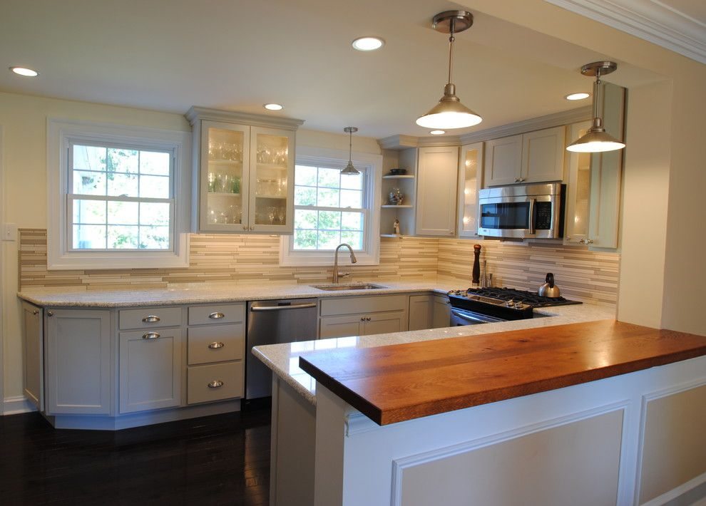 Arbor Crest for a Transitional Kitchen with a Bubble Glass and Soft Grey Kitchen by Sterling Kitchen & Bath