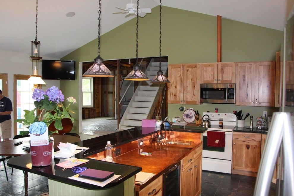 Arbor Crest for a Transitional Kitchen with a Peaked Crest Ceiling and Scotia Addition by M. Besse Architect, Pllc