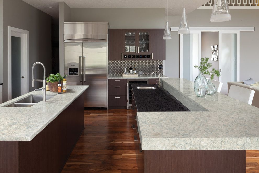Arbors of Montgomery for a Contemporary Spaces with a Quartz Kitchen and Montgomery From Cambria's Waterstone Collection by Cambria