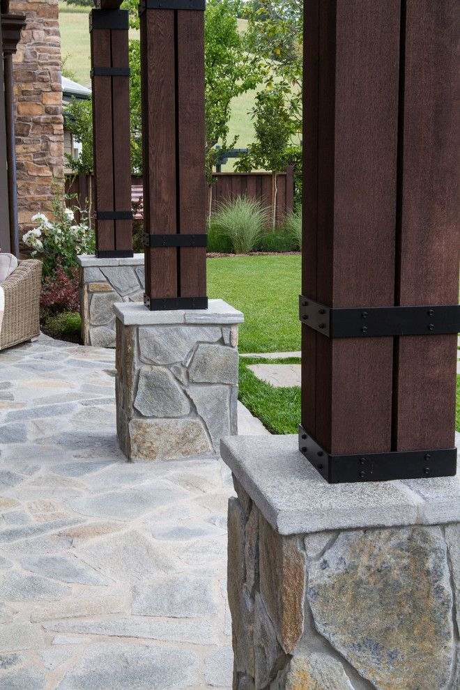 Arbors of Montgomery for a Mediterranean Patio with a Columns and Tuscany in California by John Montgomery Landscape Architects