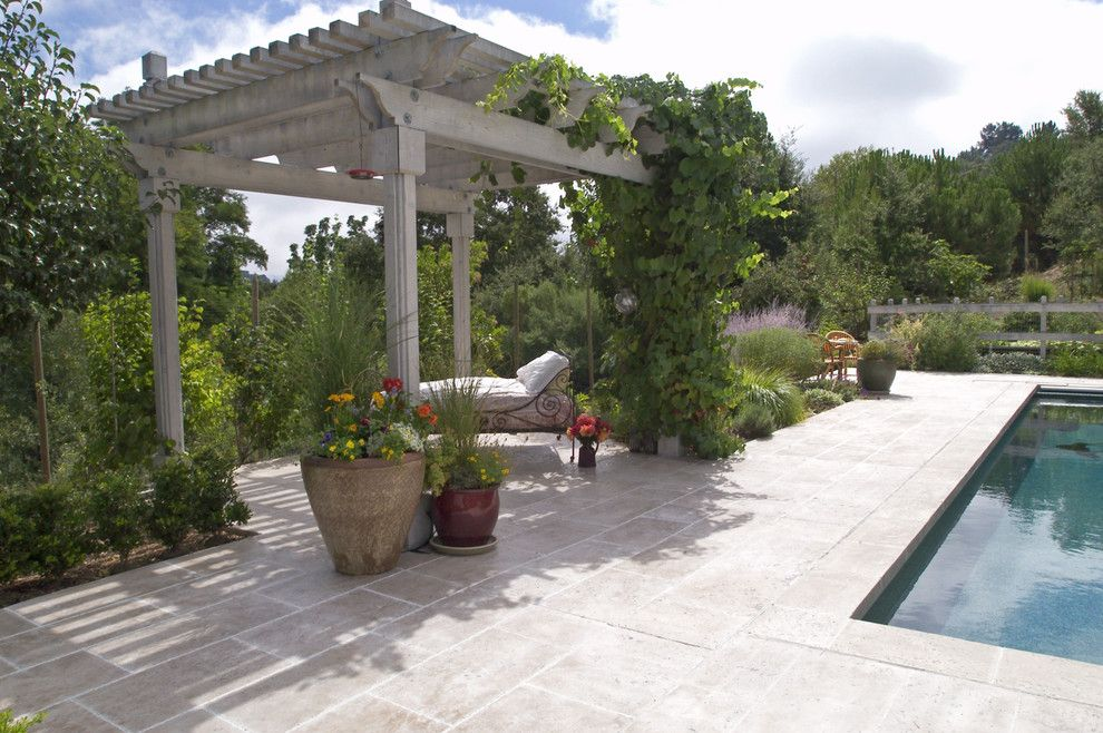 Arbors of Montgomery for a Traditional Patio with a Patio and French Country by John Montgomery Landscape Architects