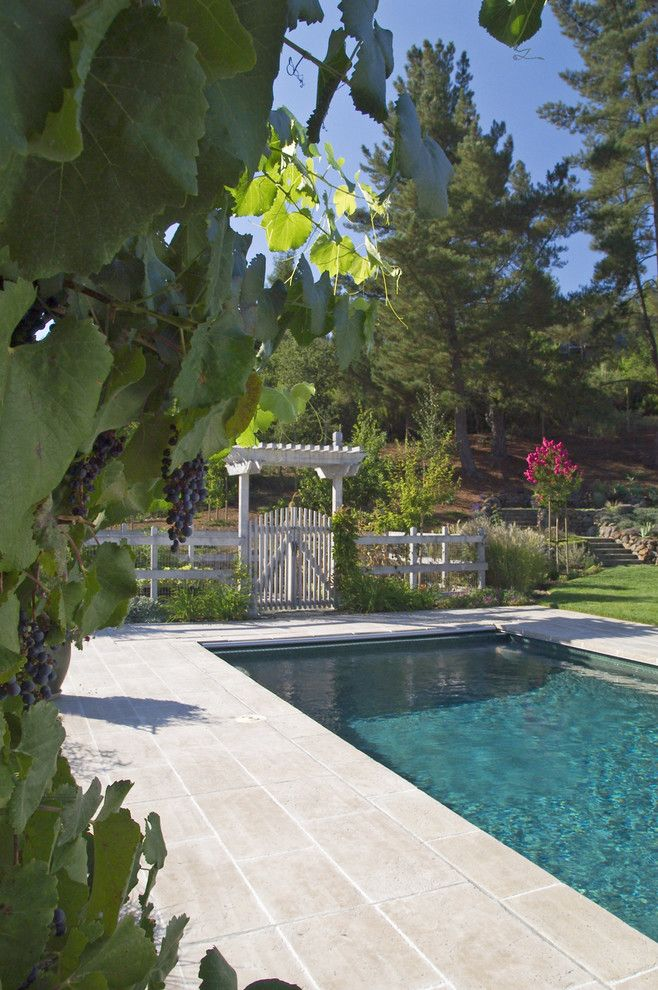 Arbors of Montgomery for a Traditional Pool with a Arbor and French Country by John Montgomery Landscape Architects