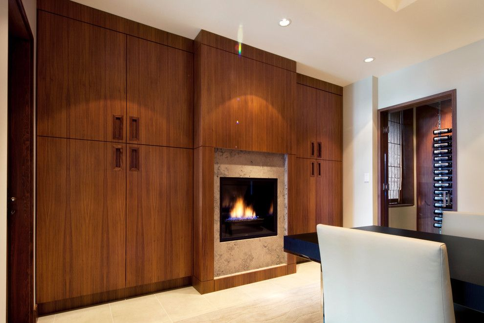 Architectural Millwork for a Contemporary Dining Room with a Architect and Private Residence by Radius Architectural Millwork Ltd.