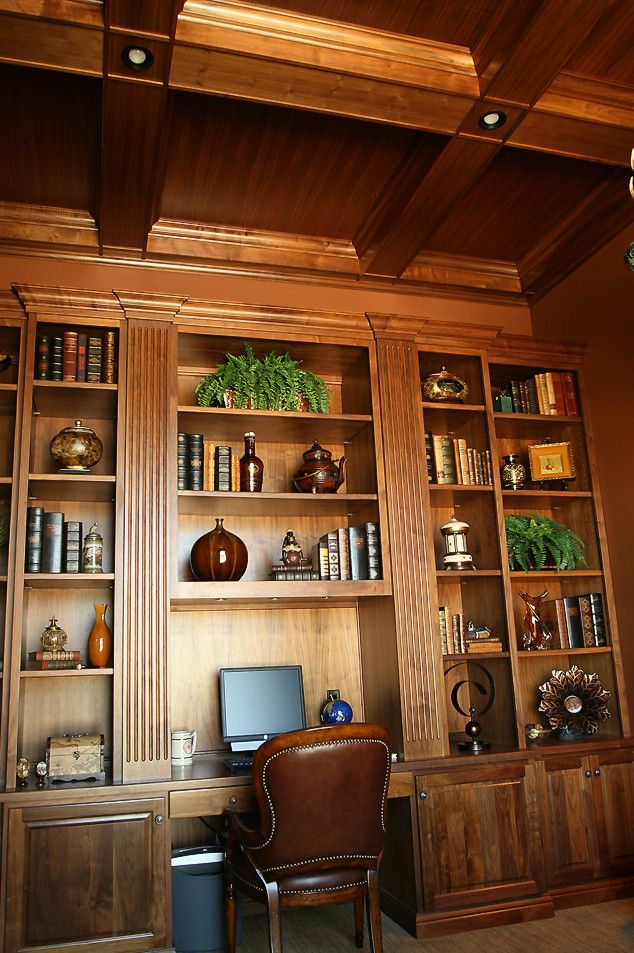 Architectural Millwork for a  Spaces with a Study and Home Offices & Dens (Desks, Shelves, Tables) by Aura Architectural Millwork