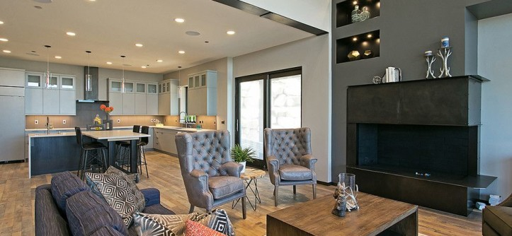 Arenson for a Contemporary Spaces with a Majestic Views and SunRidge by Todd Arenson Construction