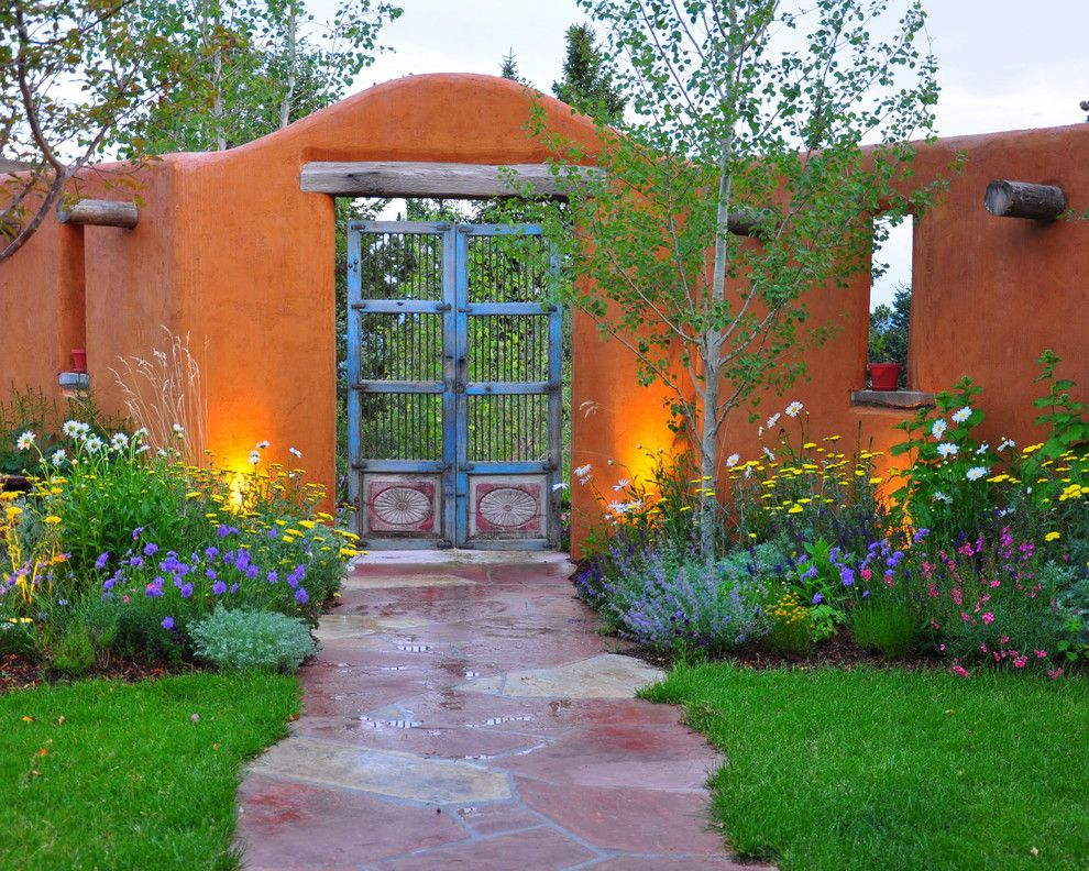 Armstrong Garden Centers for a Southwestern Landscape with a Garden Gates and Southwestern Landscape by Designscapes Colorado Inc.