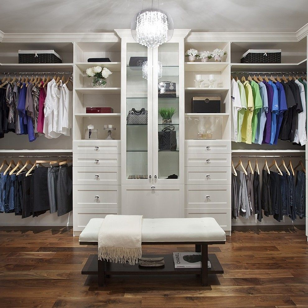 Armstrong Garden Centers for a Transitional Closet with a His and Hers and Jj Home Products by Renin
