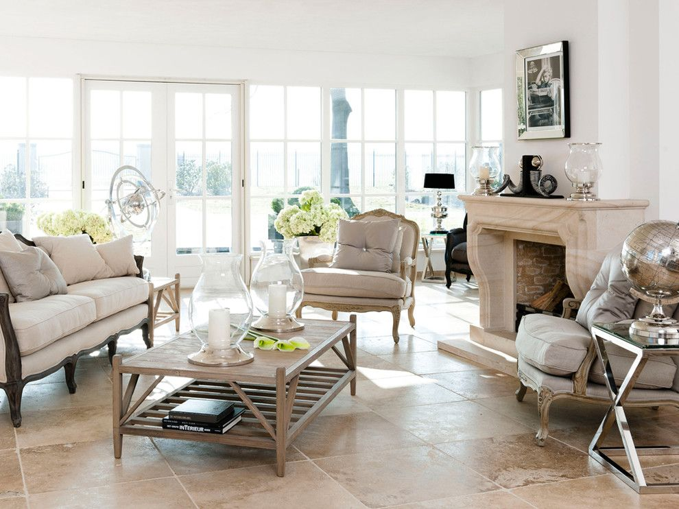 Asbestos Floor Tiles for a Transitional Living Room with a Bergre Chair and Livingroom Classic by Huisstyling