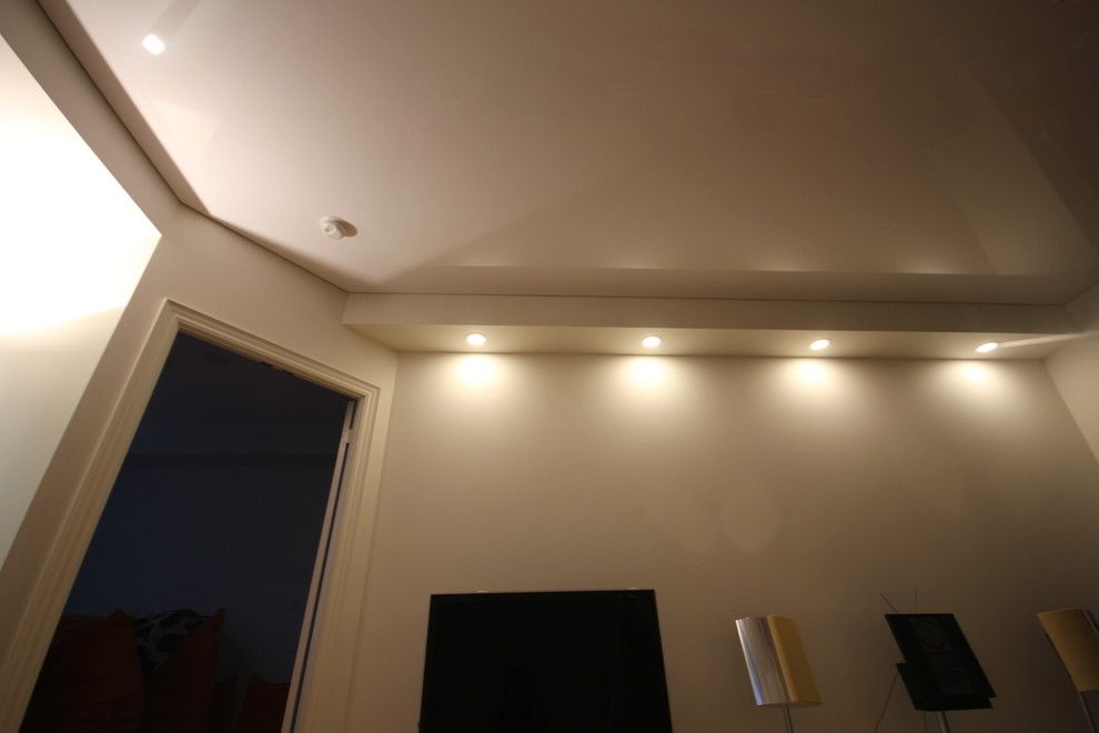 Asbestos Popcorn Ceiling for a Modern Spaces with a High Gloss Ceiling and Re Modeled Residential Houses by Laqfoil Ltd.