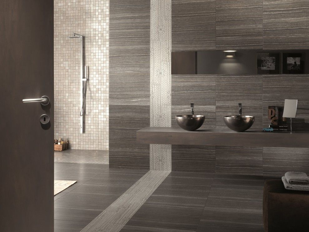 Ashford Homes for a Contemporary Bathroom with a Floating Countertop and Contemporary by Floor & Decor