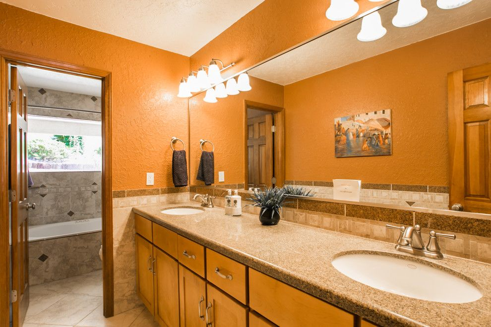 Ashley Furniture Albuquerque for a Contemporary Bathroom with a New Mexico and South Foothills Home Staging Photos 812 Piedra Vista Ne by Map Consultants, Llc