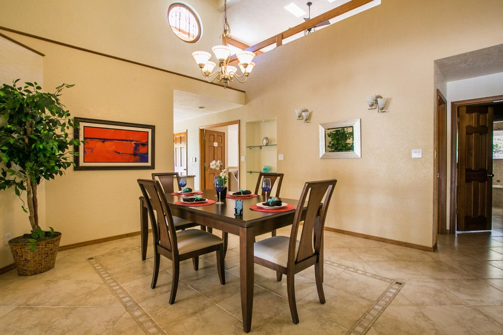 Ashley Furniture Albuquerque for a Contemporary Dining Room with a Home for Sale and South Foothills Home Staging Photos 812 Piedra Vista Ne by Map Consultants, Llc