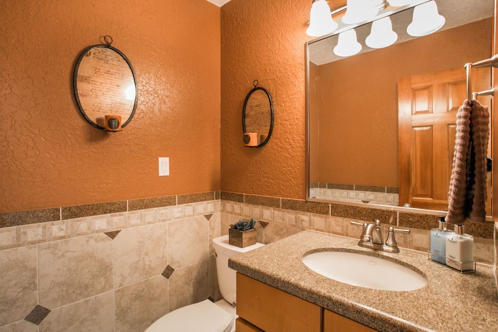 Ashley Furniture Albuquerque For A Contemporary Powder Room With A