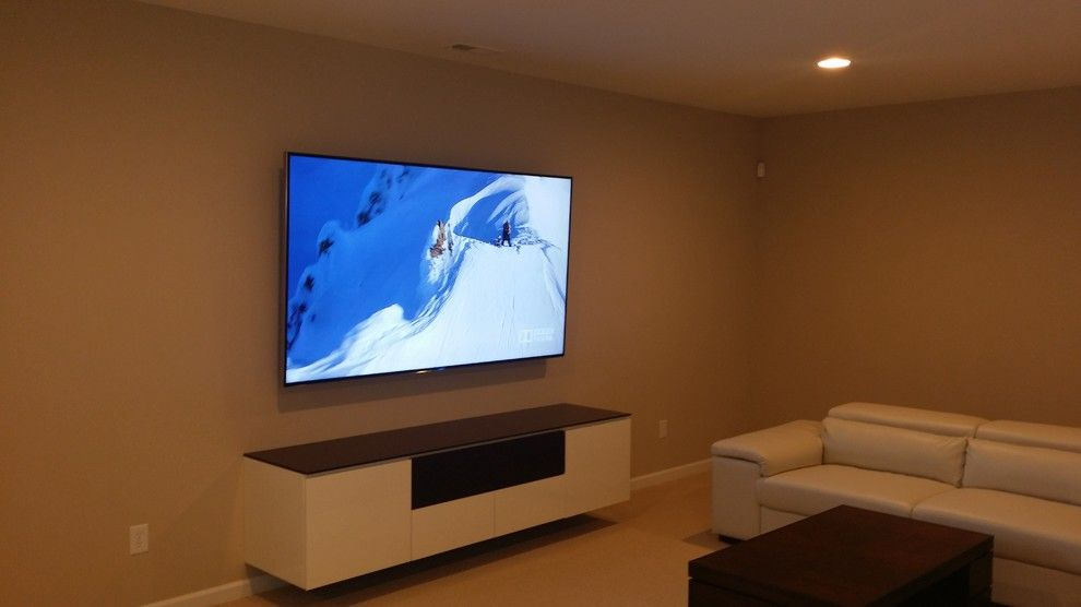 Ashley Furniture Indianapolis for a Modern Basement with a Hidden Surround Sound and Carmel, in   85