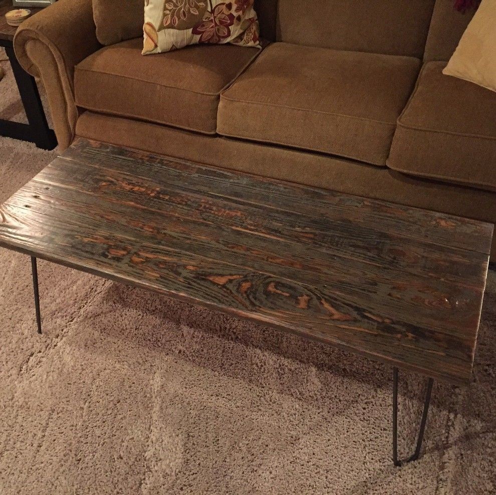 Ashley Furniture Indianapolis for a Rustic Family Room with a Distressed and Furniture From Reclaimed Decking by Unique Wood Surfaces