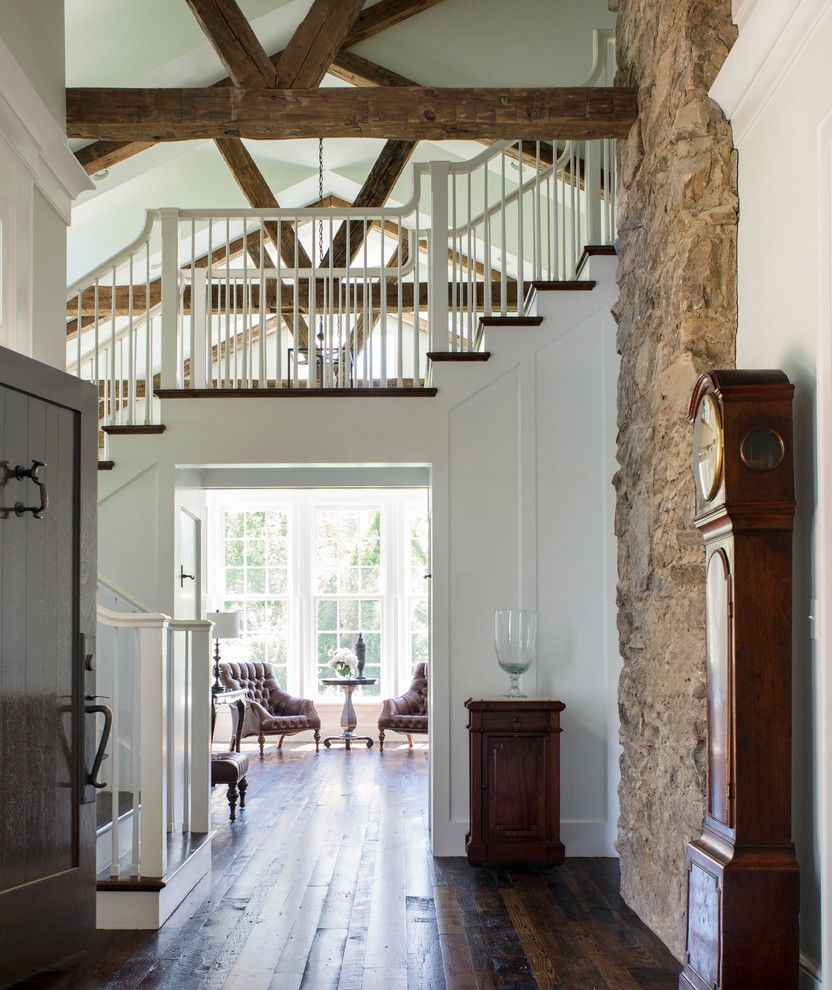 Ashley Furniture Richmond Va for a Farmhouse Entry with a Wood Panel Wall and American Farmhouse by Donald Lococo Architects