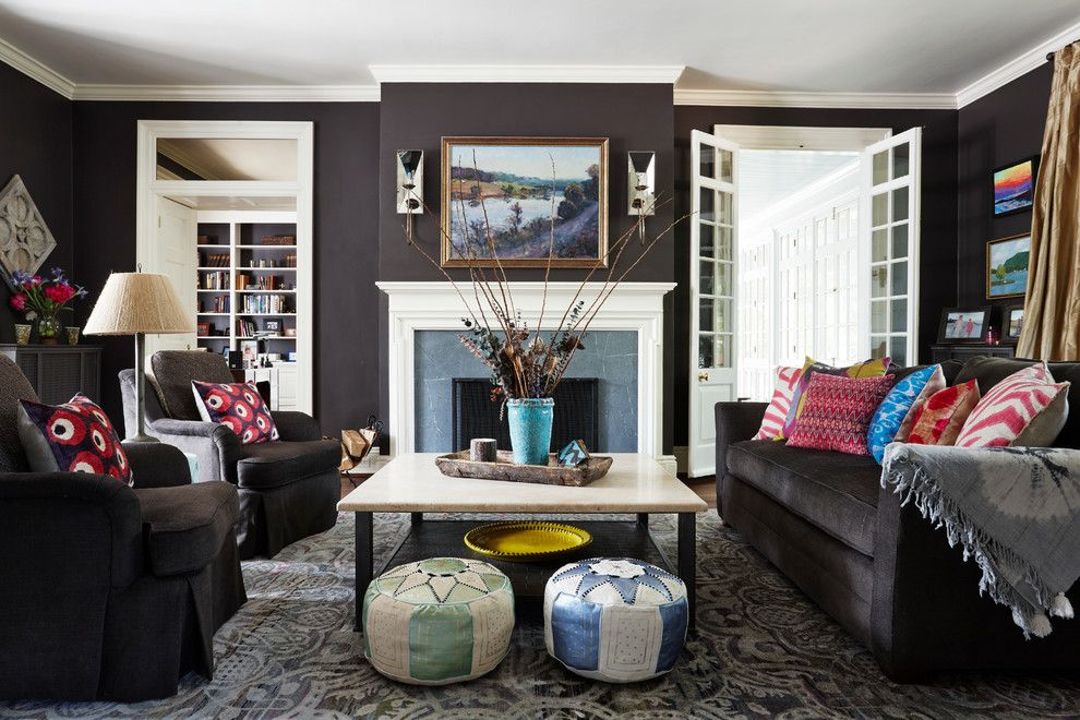 Ashley Furniture Richmond Va for a Transitional Living Room with a Black and White and Living Room by Wellborn + Wright