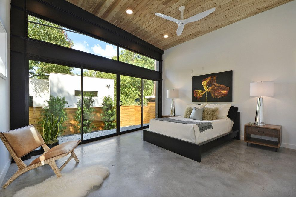 Ashley Furniture Tyler Tx for a Contemporary Bedroom with a Master Suite and Tree House   Austin, Tx by Mf Architecture