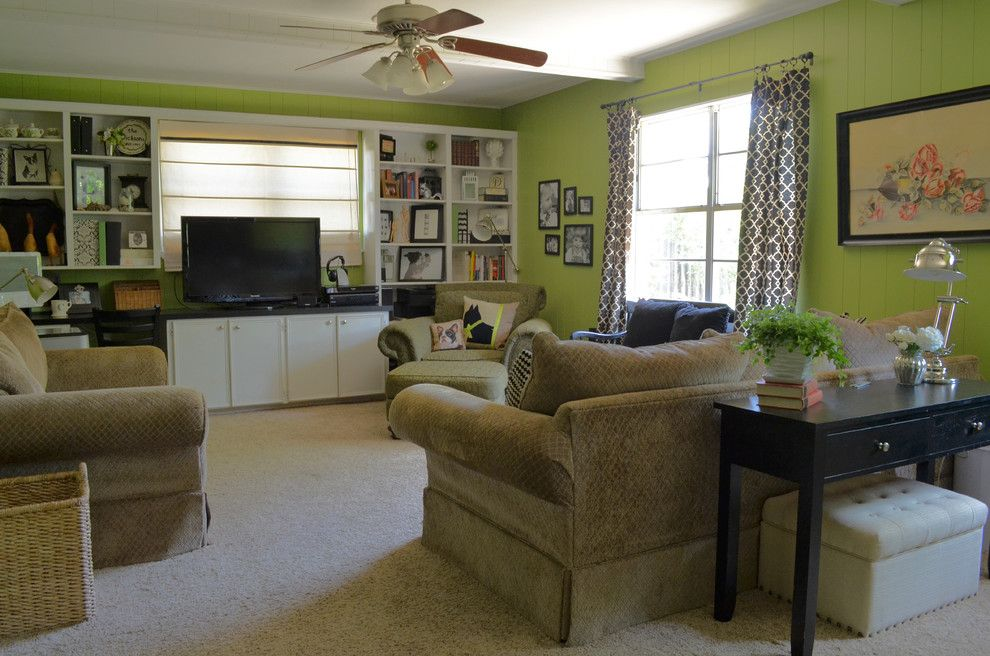 Ashley Furniture Tyler Tx for a Eclectic Family Room with a Carpet and Abilene, Tx: Camille Dickson by Sarah Greenman