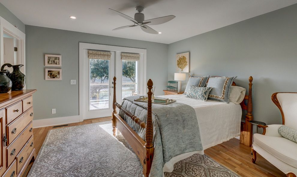 Ashley Furniture Wilmington Nc for a Contemporary Bedroom with a Beach House and Inlet View by Schmidt Custom Builders