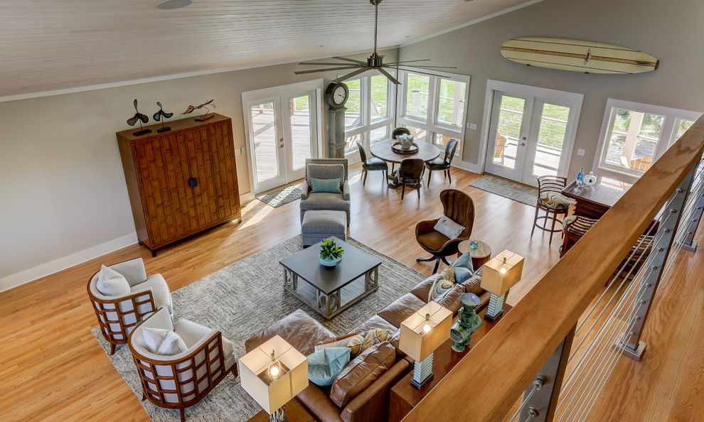Ashley Furniture Wilmington Nc for a Contemporary Living Room with a Wrightsville Beach and Inlet View by Schmidt Custom Builders