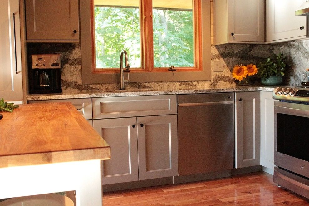 Asko Appliances for a  Kitchen with a Benjamin Moore and Spencer Hill by Dina Graham Design
