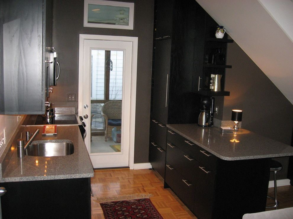 Asko Appliances for a Modern Kitchen with a Asko Dishwasher and Small Black Modern Kitchen by at HOME Cabinetry & Design