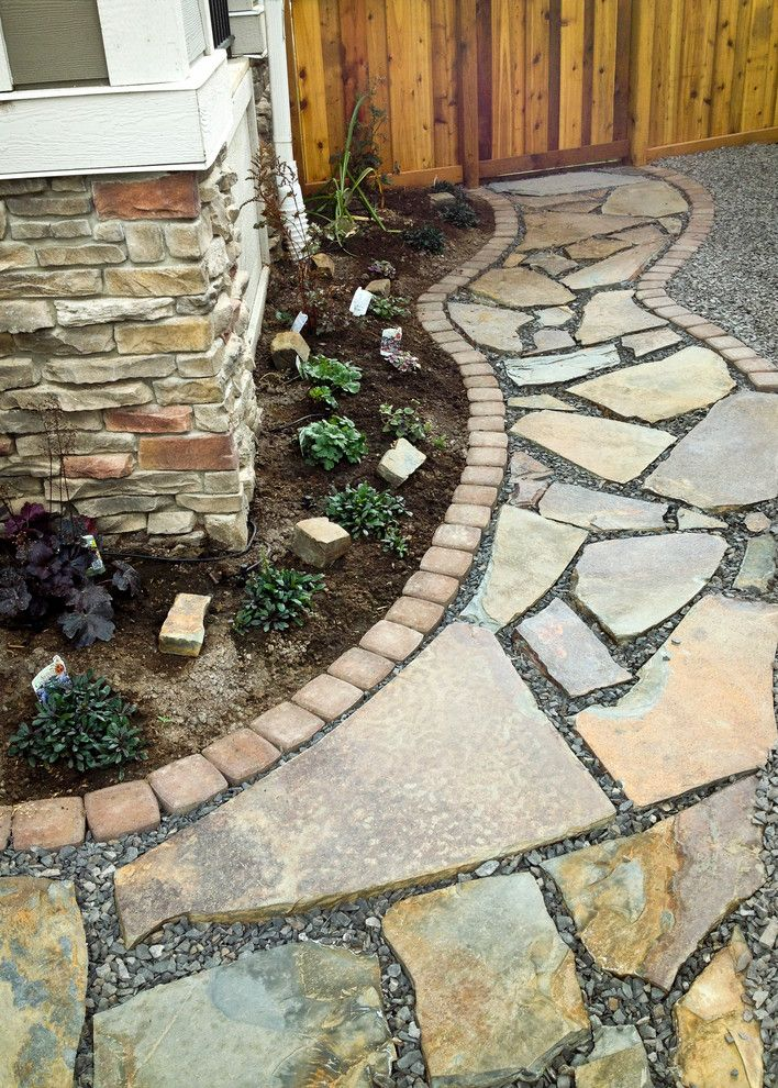Aspen Contracting for a Contemporary Landscape with a Stone Steps and Pathways by Blue Aspen Contracting
