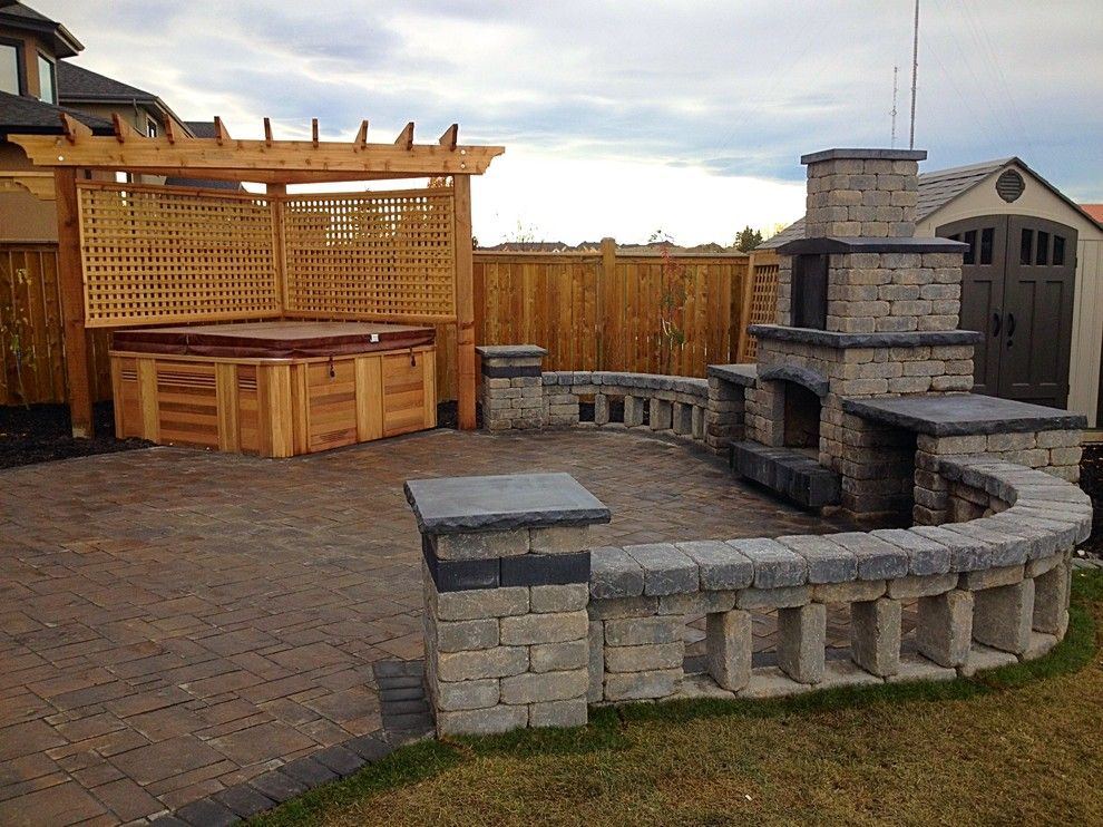 Aspen Contracting for a Rustic Patio with a Stone Patio and Photo Gallery by Blue Aspen Contracting