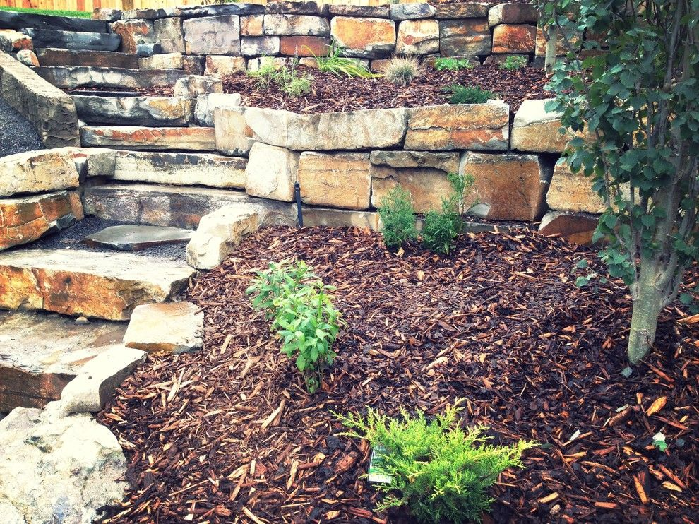 Aspen Contracting for a Traditional Landscape with a Stone Work and Photo Gallery by Blue Aspen Contracting