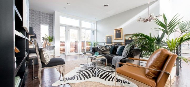 Atg Lighting for a Eclectic Home Office with a Patterns on Patterns and ATG Showhouse Home Office by Carolina v. Gentry, RID
