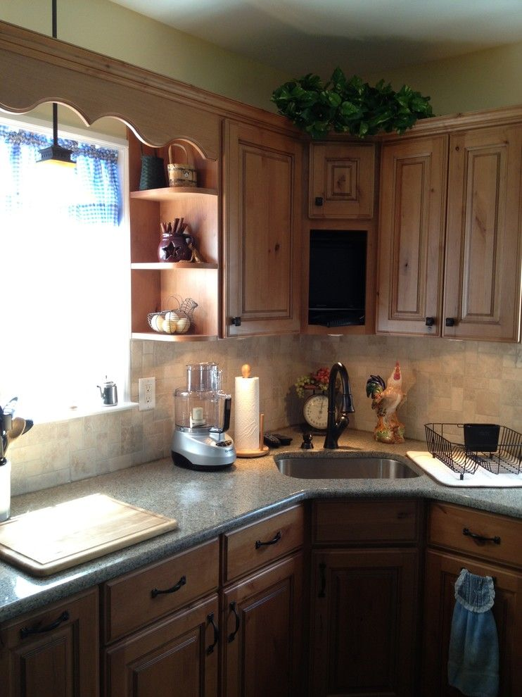 Atg Lighting for a Rustic Kitchen with a Pendant Lighting and Countryside Remodel by Lowe's of Las Vegas