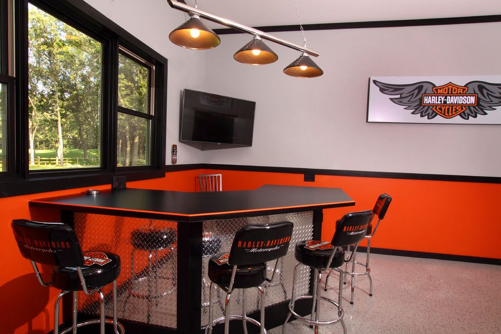 Atlanta Harley Davidson for a Industrial Garage with a Composite Flooring and Berscheid Builders   Golf Haven Estates by Westwind Woodworkers Inc.