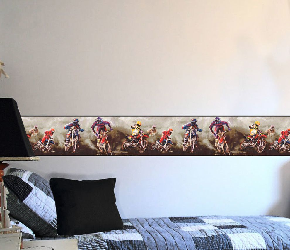 Atlanta Harley Davidson for a Modern Bedroom with a Extreme Sports Wall Decor and Motorcycles Bedding and Room Decorations by Obedding