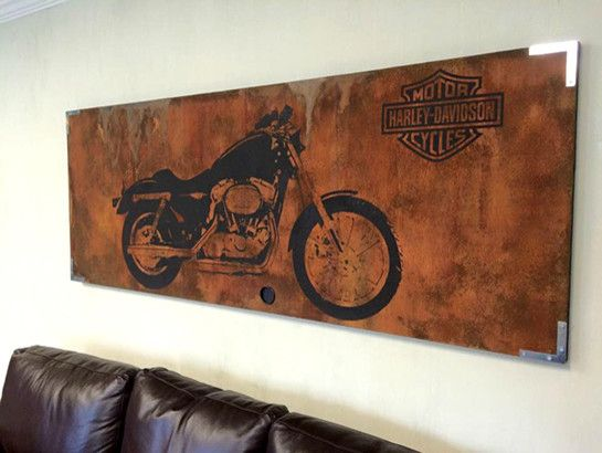Atlanta Harley Davidson for a Rustic Family Room with a Modern Paintings and Metal Effects Projects by Modern Masters