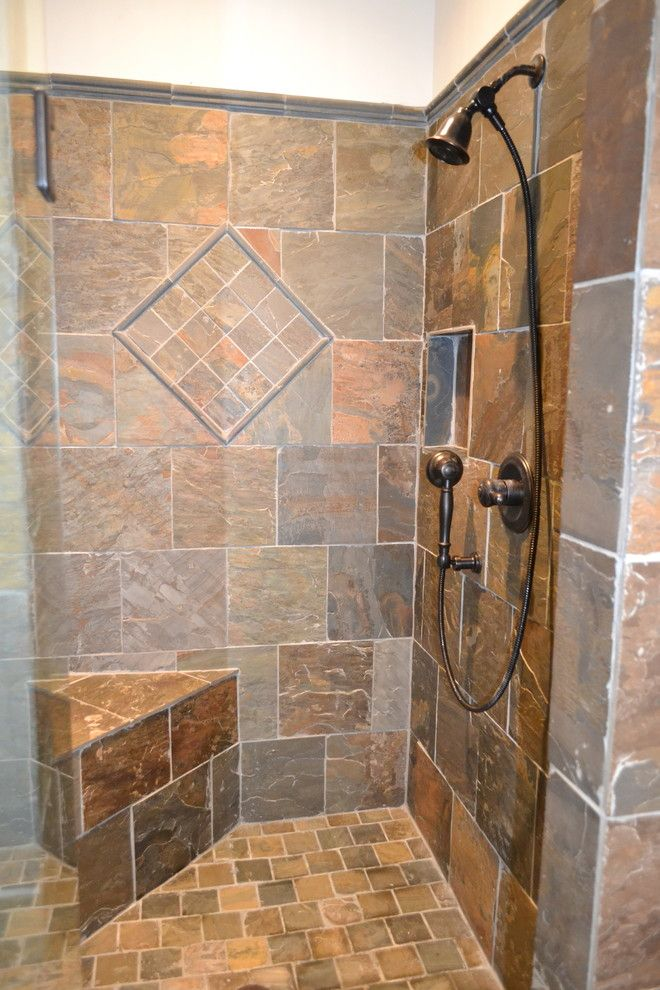 Atlanta Homes and Lifestyles for a Craftsman Bathroom with a Frameless Shower Door and Jasper 2 by Precision Homes of Canton, Inc.