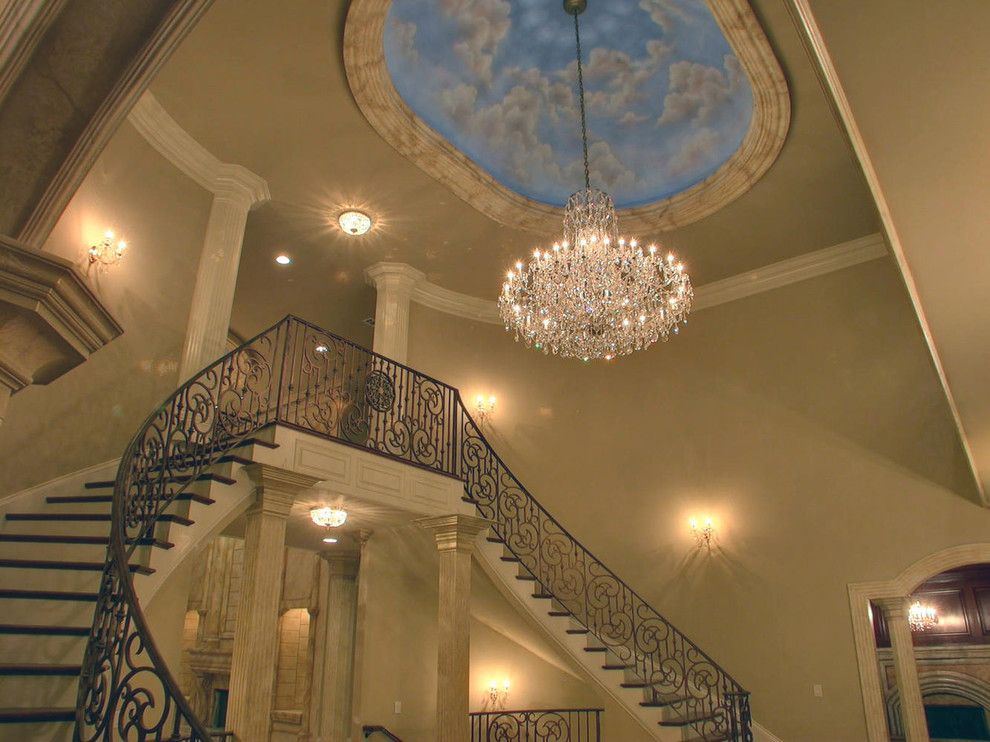 Atlanta Homes and Lifestyles for a Mediterranean Staircase with a Mediterranean and Beautiful Homes Built by Atlantic Construction & Remodeling