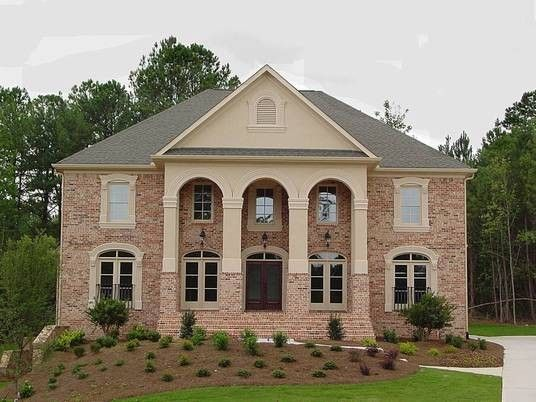 Atlanta Homes and Lifestyles for a Traditional Exterior with a Traditional and Ahb Custom Home Builders   Royal Lake Estates Residence by Ahb General Contractors