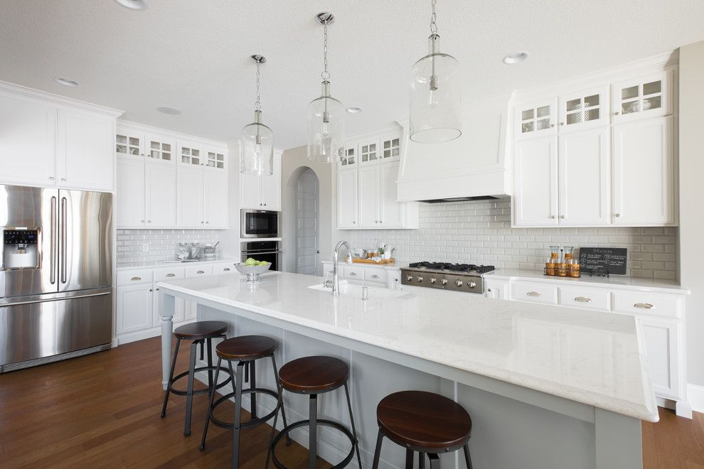 Atlas Flooring for a Traditional Kitchen with a Unique Lighting and New Haven Model   2015 Spring Parade of Homes by Homes by Tradition