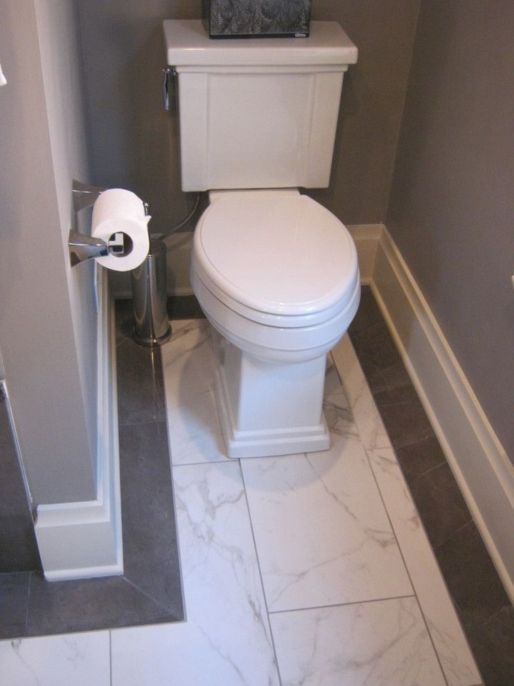 Atlas Flooring for a Transitional Bathroom with a Shower and Bath 13154 by J.s. Brown & Co.