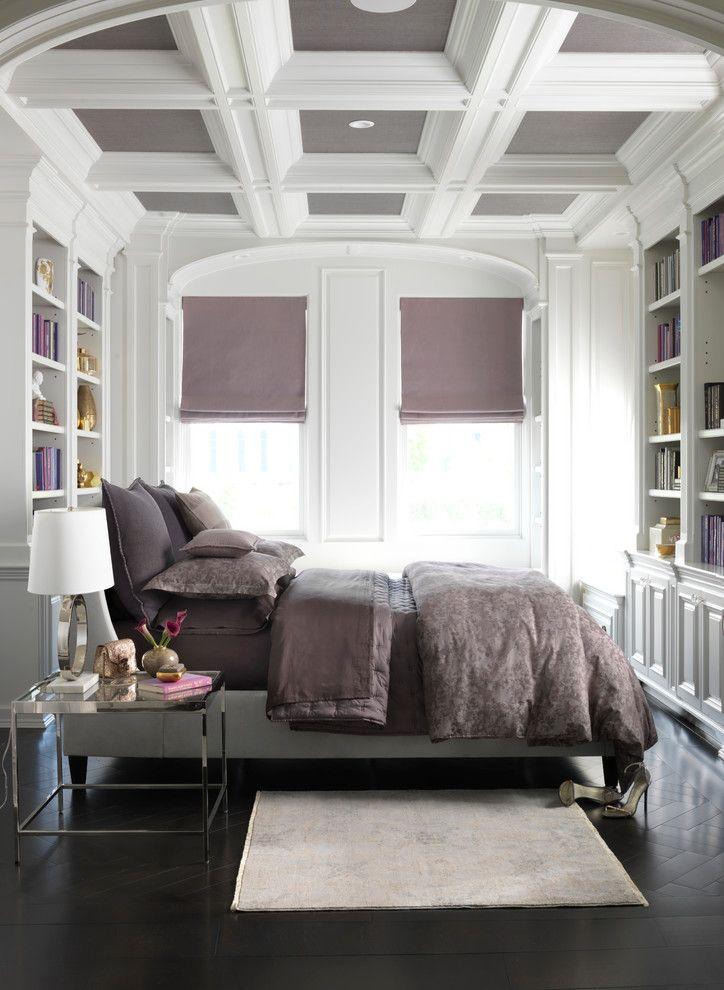 Atlas Roofing for a Contemporary Bedroom with a Contemporary and Vera Wang Floral Jacquard Bedding Collection by Bloomingdale's