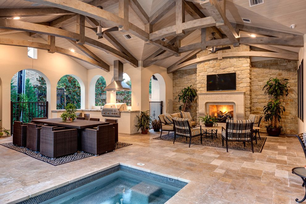Atlas Roofing for a  Patio with a Truss and Lynbrook   Houston, Tx. by Connie Anderson Photography