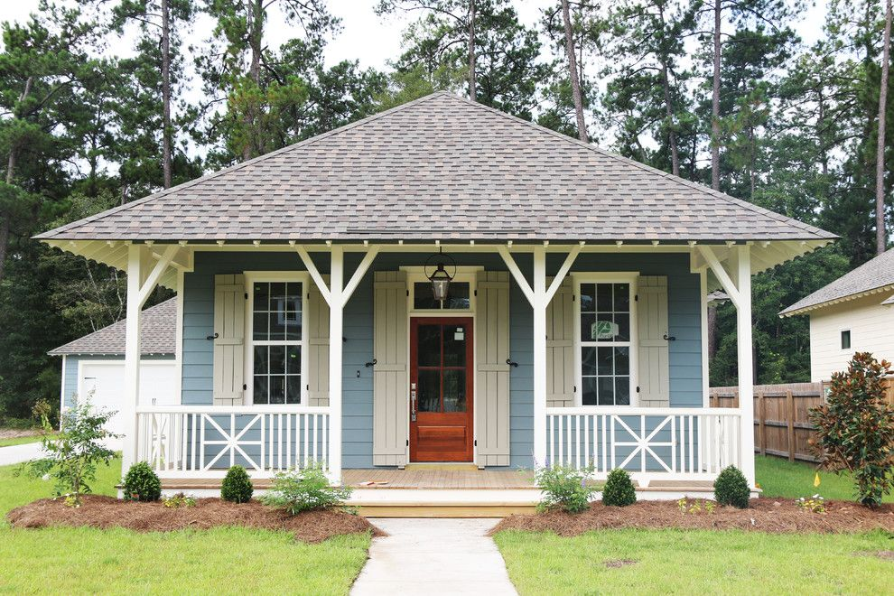 Atlas Roofing for a Traditional Exterior with a Window Trim and New Orleans Style Shotgun by Rhd  Homes