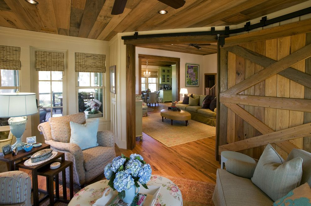 Atrium Windows and Doors for a Rustic Living Room with a Oriental Carpets and Stephanie's Cottage by Gerald D. Cowart, Aia, Leed  Ap