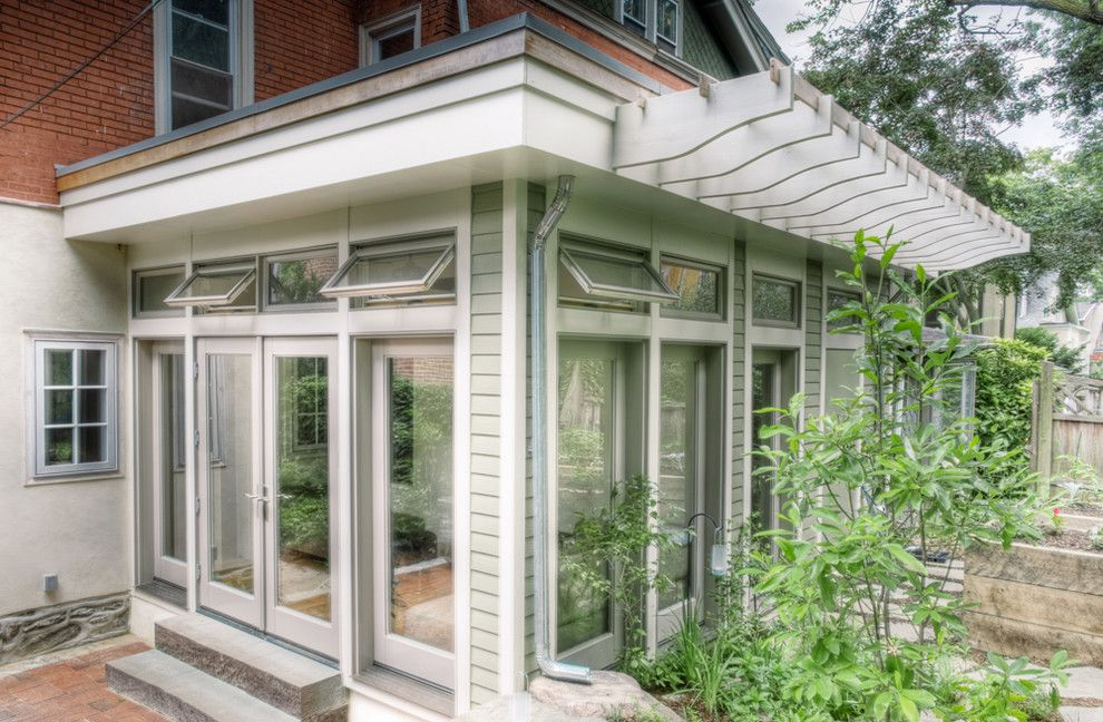 Atrium Windows and Doors for a Traditional Exterior with a Eaves and Mt. Airy Sunroom by Buckminster Green Llc
