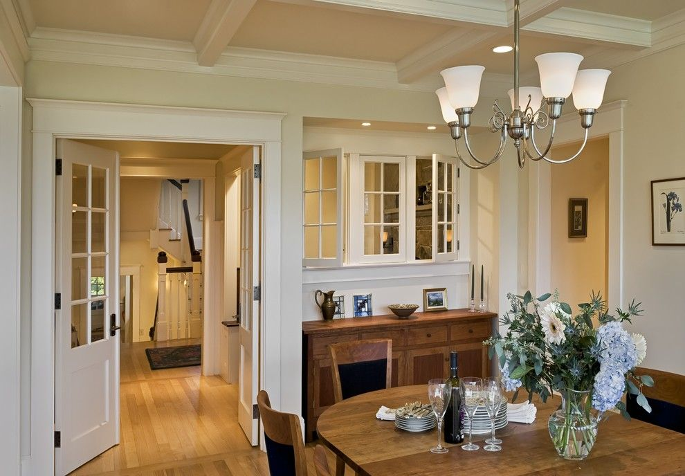 Atrium Windows and Doors for a Victorian Dining Room with a Double Doors and a Shingle Style House Hanover NH by Smith & Vansant Architects PC