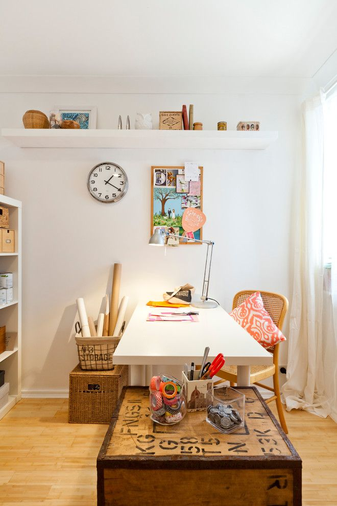 Atwal Eye Care for a Eclectic Home Office with a Craft Room and a Junk Room Turned Craft Room by House Nerd