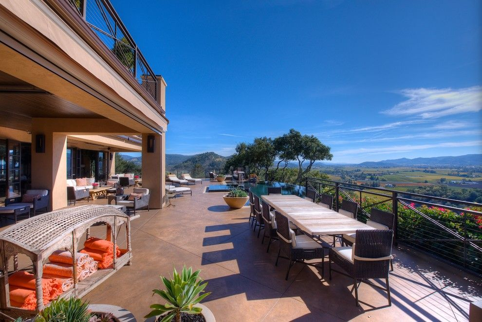 Auberge Du Soleil Rutherford Ca for a Mediterranean Deck with a Stones and Wine Country Masterpiece by Decker Bullock Sotheby's International Realty